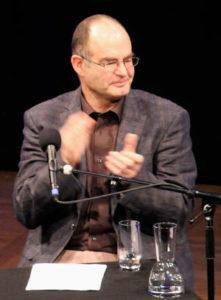 Martin Reinke während einer Lesung der Lit.Cologne